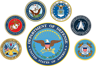 DoD and military seals